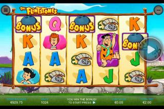 The Flintstones Mobile Slot Reels