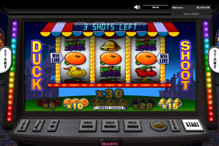 Big Wheel Mobile Slot Duck Shoot Bonus Game