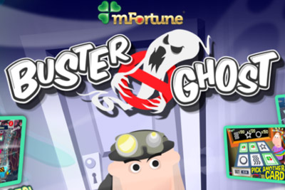 Buster Ghost Mobile Slot Logo