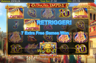 Glorious Empire Mobile Slot Free Spins Retrigger