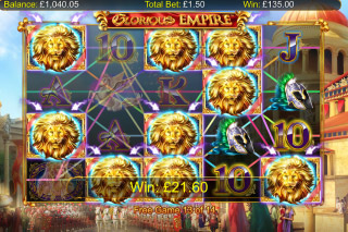 Glorious Empire Mobile Slot Free Spins Wilds