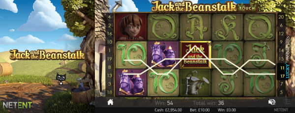 NetEnt Jack and the Beanstalk Mobile Slot Machine