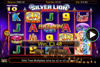 Silver Lion Mobile Slot Free Spins