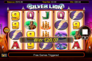 Silver Lion Mobile Slot Game Win