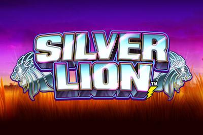 Silver Lion Mobile Slot Logo