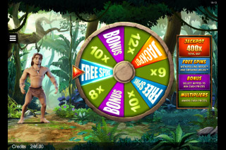 Tarzan Mobile Slot Bonus Wheel