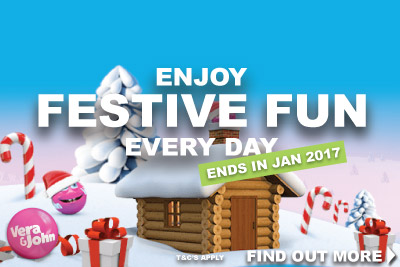 Enjoy Vera John Mobile Casino Festive Fun Until January 2017