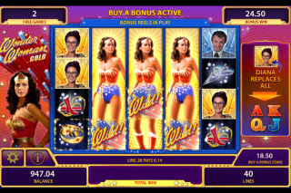 Wonder Woman Gold Mobile Slot Bonus Reels