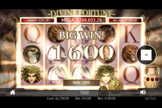 Divine Fortune Mobile Slot Big Win