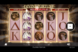 Divine Fortune Mobile Slot Wilds