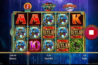 Dragon Spin Mobile Slot Raining Wilds Free Spins