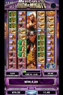 Hercules Mobile Slot Bonus Feature