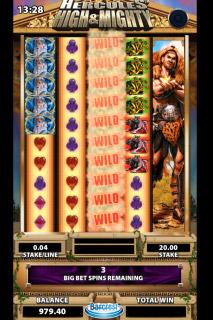 Hercules Mobile Slot Wilds