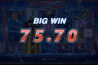 Hockey Hero Mobile Slot Big Win