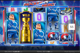 Hockey Hero Mobile Slot Re-Spin Win