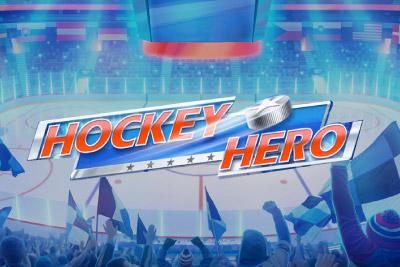 Hockey Hero Mobile Slot Logo