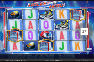 Hockey Hero Mobile Slot Game