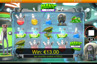 Manic Millions Mobile Slot Win