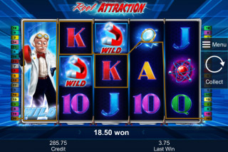 Reel Attraction Mobile Slot Reel Slides Feature
