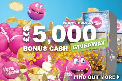 Win Your Share of £€$5,000 At Vera John Mobile Casino