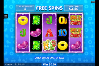 Fruit vs Candy Mobile Slot Candy Free Spins