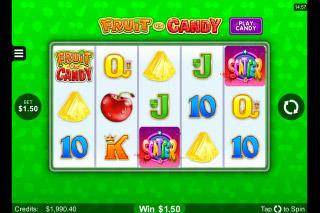 Fruit vs Candy Mobile Slot Fruit Game