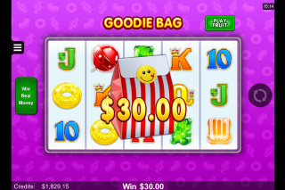 Fruit vs Candy Mobile Slot Goodie Bag Bonus