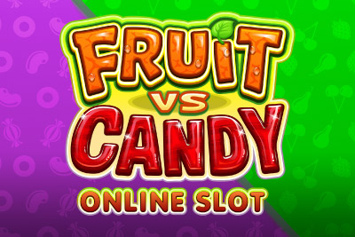 Fruit vs Candy Mobile Slot Logo
