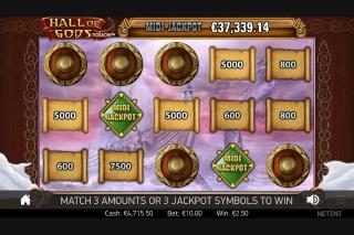 Hall of Gods Mobile Slot Bonus Game
