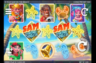 Sam on the Beach Mobile Slot Game