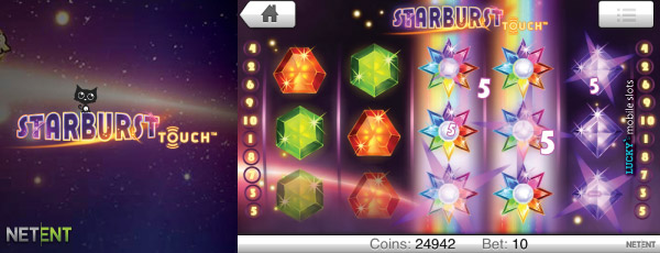 NetEnt Starburst Touch Slot On iPad