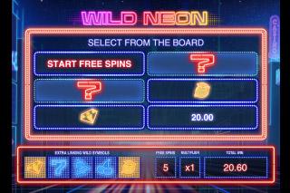 Wild Neon Mobile Slot Bonus