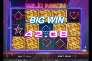 Wild Neon Mobile Slot Free Spins Win