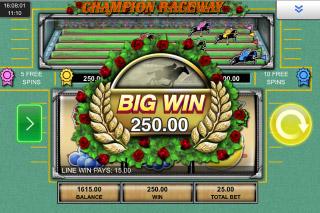 Champion Raceway Mobile Slot Big Win