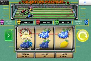 Champion Raceway Mobile Slot Game