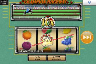 Champion Raceway Mobile Slot Free Spins