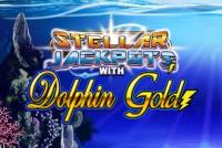 Dolphin Gold Stellar Jackpots Mobile Slot Logo