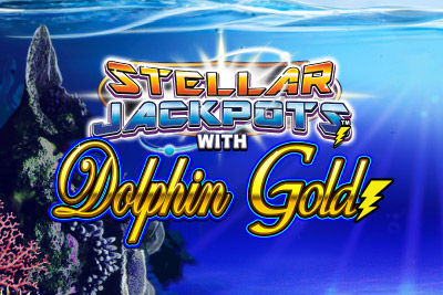 Dolphin Gold Stellar Jackpots Mobile Slot Logo