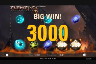 Elements Mobile Slot Big Win