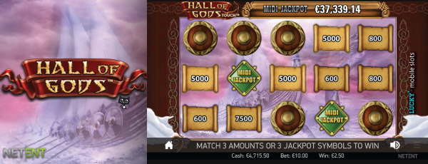 Hall Of Gods Jackpot Bonus Game