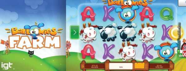 IGT Balloonies Farm Mobile Slot Machine