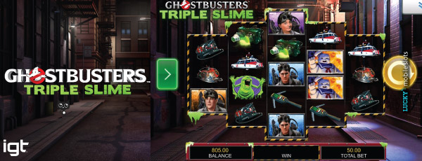 IGT Ghostbusters Triple Slime Mobile Slot Game