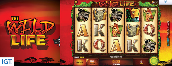 IGT The Wild Life Mobile Slot Machine