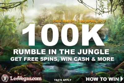 LeoVegas Mobile Casino 100K Free Spins & Cash Prizes Promo