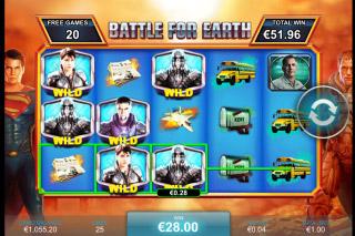 Man of Steel Mobile Slot Battle for Earth