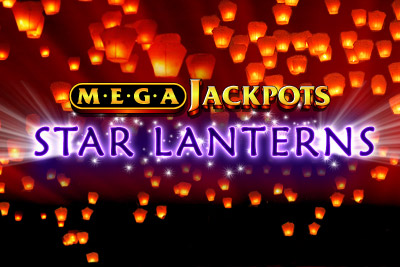 MegaJackpots Star Lanterns Mobile Slot Logo