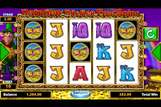 Rainbow Riches Free Spins Mobile Slot Bonus Symbols
