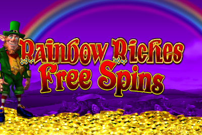 Rainbow Riches Free Spins Mobile Slot Logo