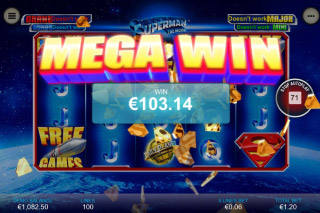 Superman The Movie Mobile Slot Mega Win