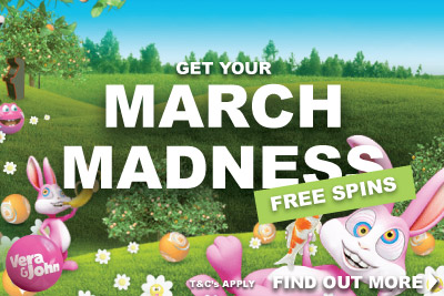 Get Your March Madness Free Spins at Vera&John Mobile Casino